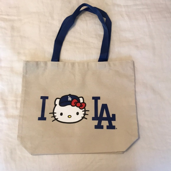 b00515d5d2cb Hello Kitty Handbags - Hello Kitty x LA Dodgers tote bag